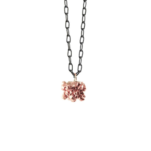 MATTER rose gold pendant necklace