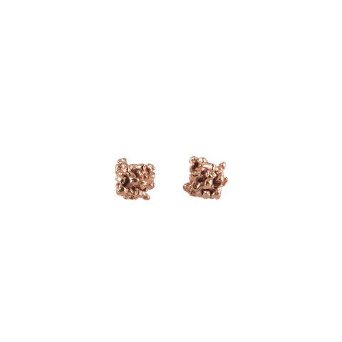 ENCRUSTED little rose gold studs