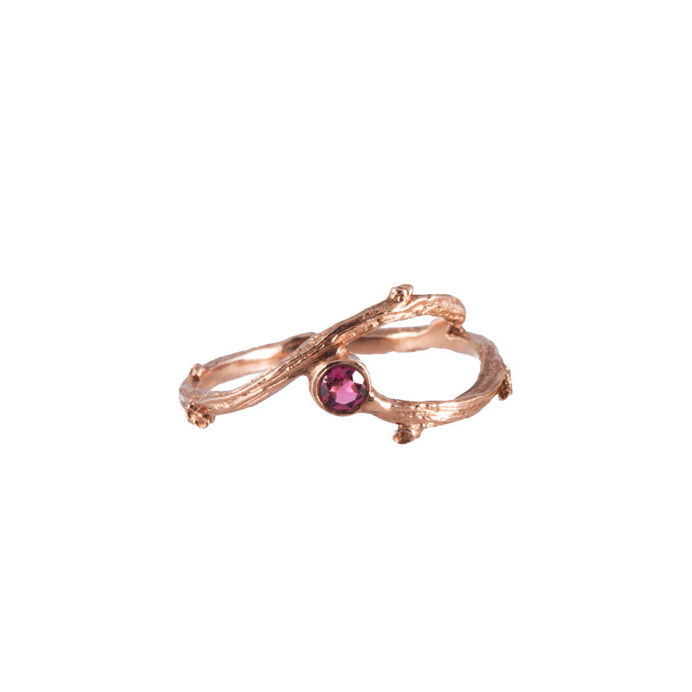 FORAGE <p>rose gold ring with pink tourmaline</p>
