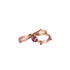 FORAGE rose gold ring with pink tourmaline