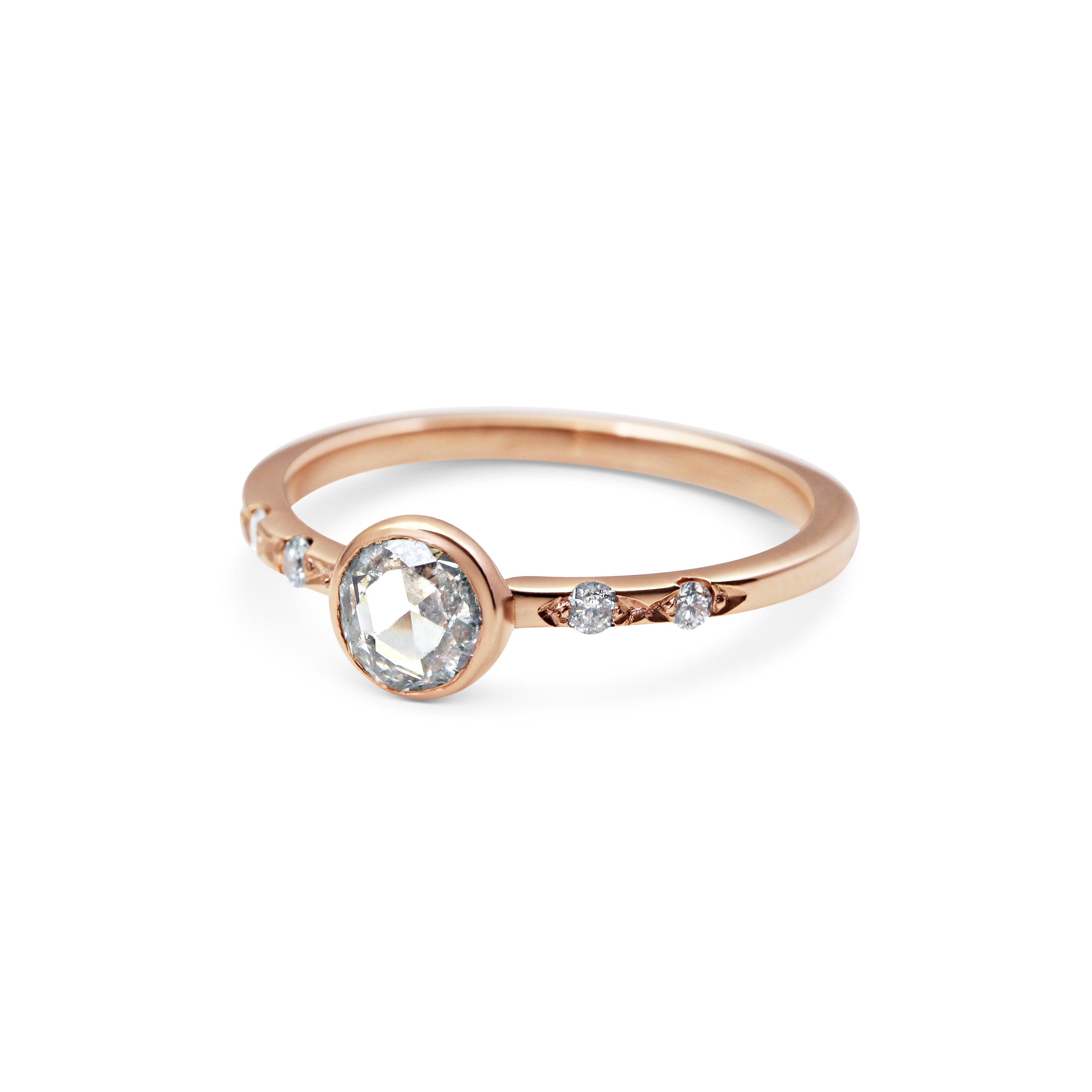 shape cut ring pink products emerald diamond white octagon dublin rings jewellers morganite engagement light campbell gold
