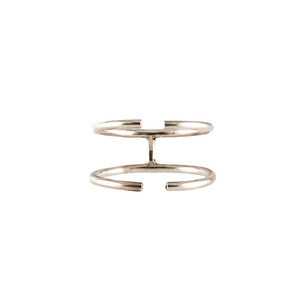 TWIN ARC <p>18k gold cage ring</p>