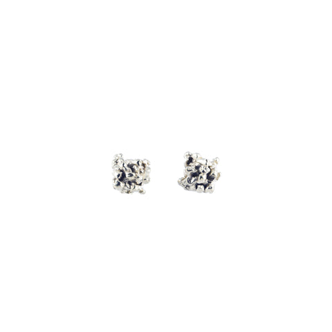 ENCRUSTED little silver stud earrings