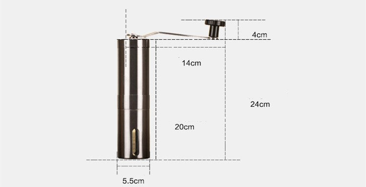 Stainless Steel Hand-Held Coffee Grinder - The Coffee Cache