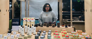 Unnaaty, Nishtha the founder and director of the brand exhibiting the collection at Old Spitalfields Market in London. The event was in association with Urban Makers.