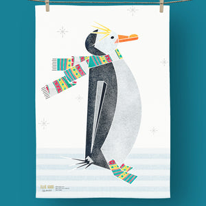 100% Organic Cotton Tea Towel - Penguin - Unnaaty
