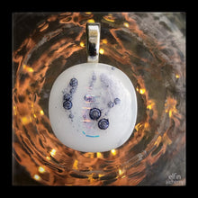 Load image into Gallery viewer, elfin alchemy unique abstract white glass pendant handcrafted for you in Lancashire