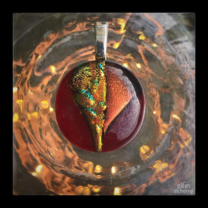 zing sparkles red/orange pendant option 3
