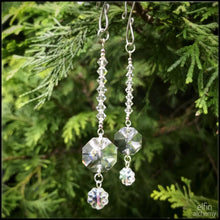 Load image into Gallery viewer, set of 2 crystal light-catcher decorations silver