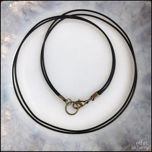 free cord necklace with your elfin alchemy glass pendant