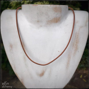natural greek leather cord necklace for elfin alchemy fused glass pendants
