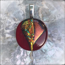 Load image into Gallery viewer, zing sparkles red/orange pendant option 3
