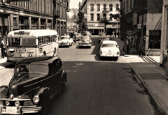 1950s cars at the intersection (One 13x19)