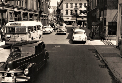 1950s cars at the intersection (Two 5x7s)