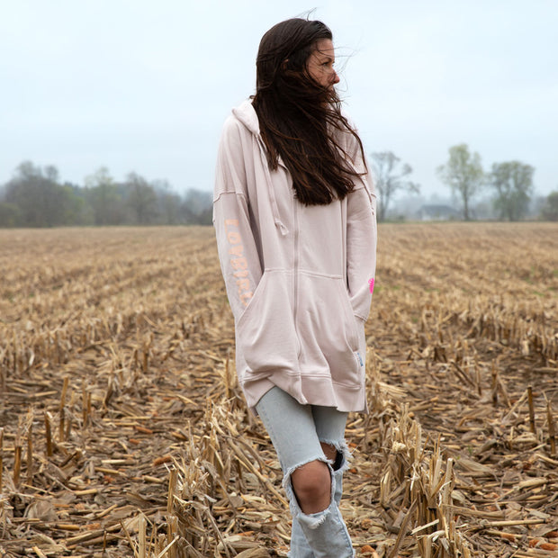 White Feather Jacket, 100% organic cotton, ethical Toronto