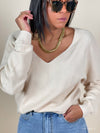 'Angelica' Basic V neck jumper