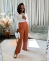 Double pleated wide leg trousers