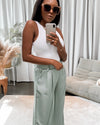 Silky wide leg trousers