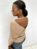 Double V-neck wrap jumper