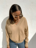 V-neck jumper with pockets