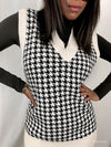 'Laura' Houndstooth Long Spencer