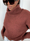 'Tamuna' Soft Ribbed Roll Neck Knit