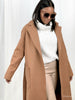 Belted long oversized coat