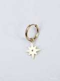 Pole Star With Diamond Earring