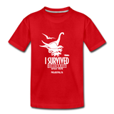 I Survived Jurassic Quest Philadelphia, PA Drive Thru - Youth T-Shirt - red