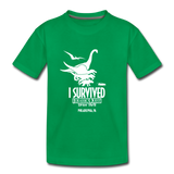 I Survived Jurassic Quest Philadelphia, PA Drive Thru - Youth T-Shirt - kelly green