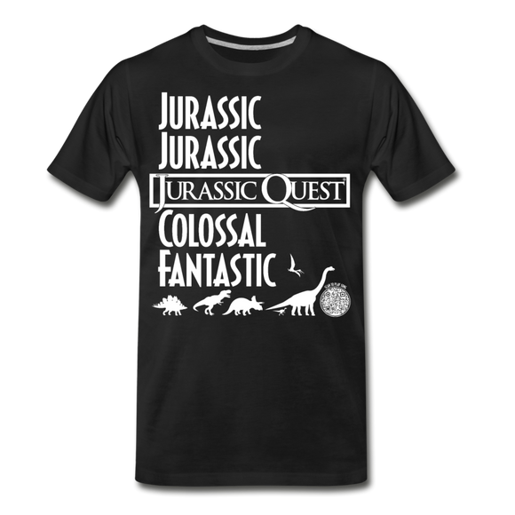 Jurassic Quest Theme Song Lyrics - Adult T-shirt - black