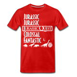 Jurassic Quest Theme Song Lyrics - Adult T-shirt - red