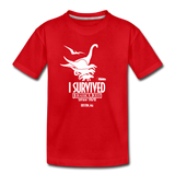 I Survived Jurassic Quest Drive Thru Boston, MA - Youth T-Shirt - red