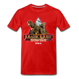Jurassic Quest Drive Thru Boston, MA - Adult T-Shirt - red