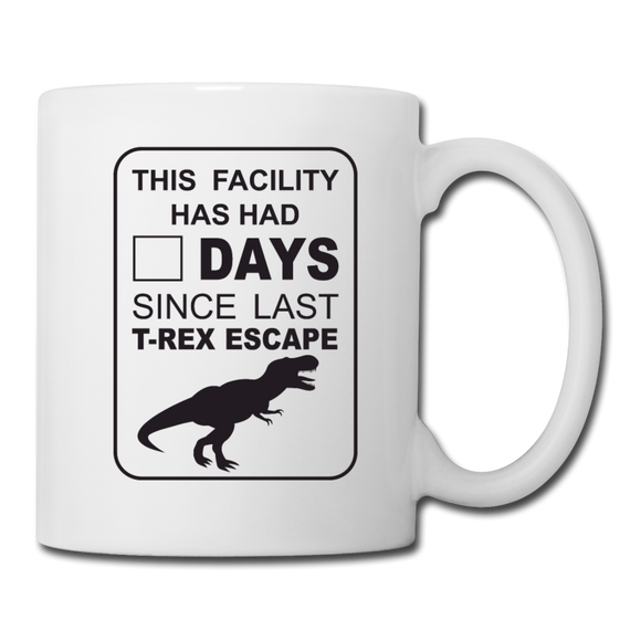 T-Rex Escape Mug - white