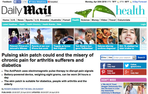 Actipatch daily mail