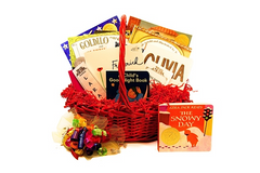 book gift basket with Caldecott Award-Winning Picture Books