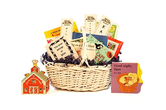 Book Gift Basket - second or third child, add to a family library