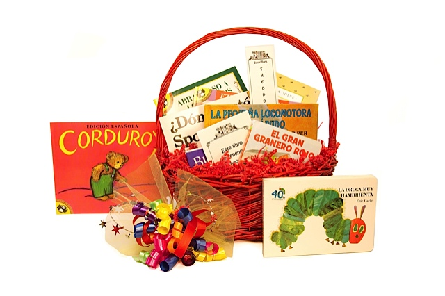 book gift baskets - favorites in Spanish