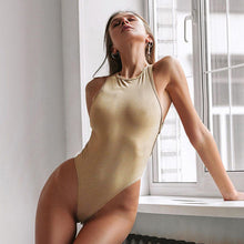 Load image into Gallery viewer, Backless Cross Bandage Bodysuit