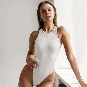 Backless Cross Bandage Bodysuit