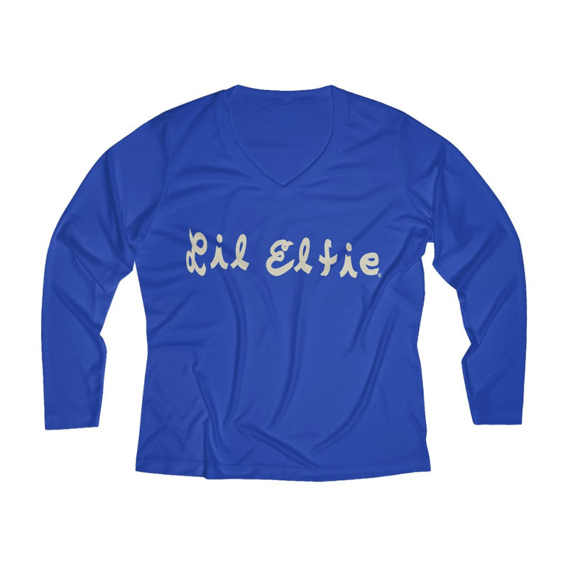 Lil Elfie Women's Long Sleeve Performance V-neck Tee