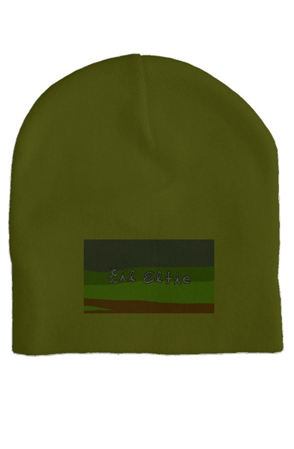 Lil Elfie Camo on Olive Colored Skull Cap