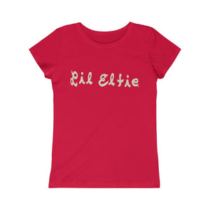 Lil Elfie Logo on Girls Princess Tee (T Shirt)