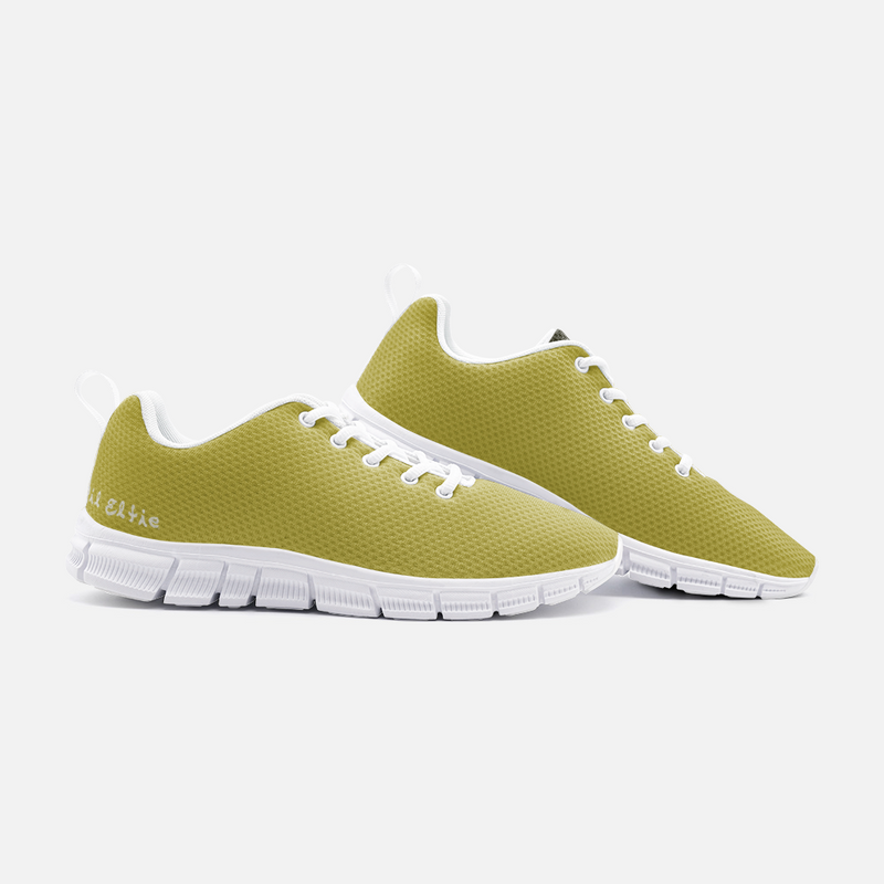 Lil Elfie Gold and Black Unisex Athletic Sneakers