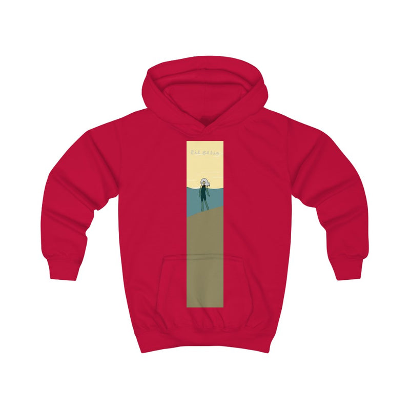 Lil Elfie on the Beach Kids Hoodie (Unisex)