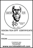 Socra Tea Gift Certificates $5, $10, $20 & $50