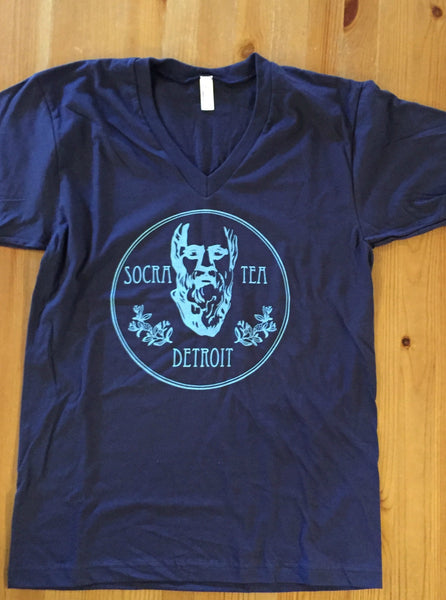 Socra Tea Detroit Unisex T-shirt- BLACK