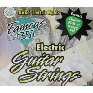 Famous 351 Electric Guitar Strings