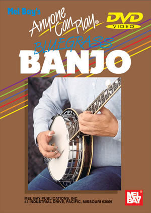 "Mel Bay ""Anyone Can Play Bluegrass Banjo"" With DVD"